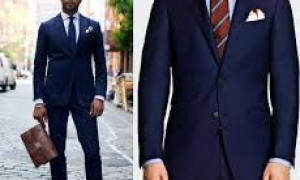 Navy Blue Men Suits