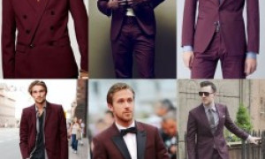 Burgundy Men Suits
