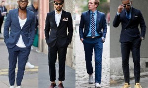 Men Suits with Sneakers
