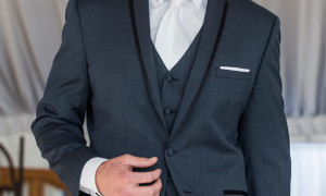 Suits with White Tie