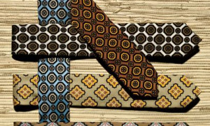 Geometric Ties with Men Suits