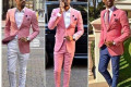 Pink Men Suits: Pink Fashion in Men Suits Wearing