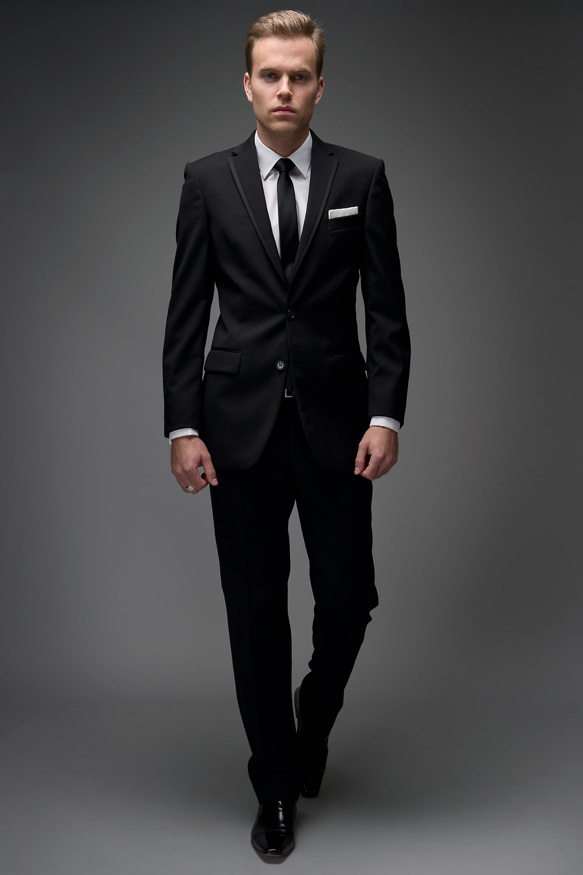 2 Button Satin Edge Slim Fit Suit