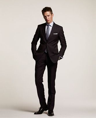 Black Suits Models for Tall Men