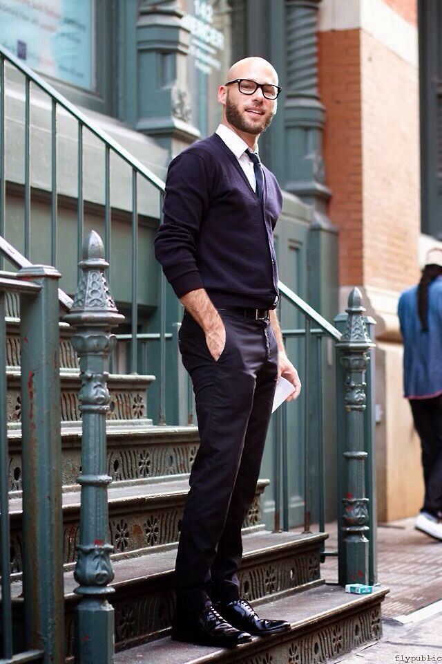 Casual street style men suit without jacket