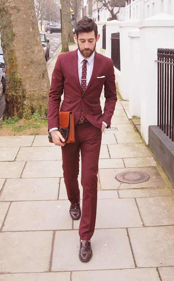 Colored suits for men