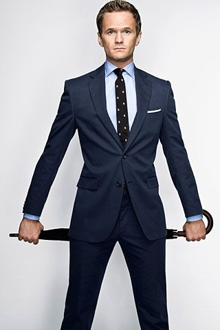 Dark blue men suits