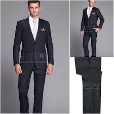 Dark blue wedding suit
