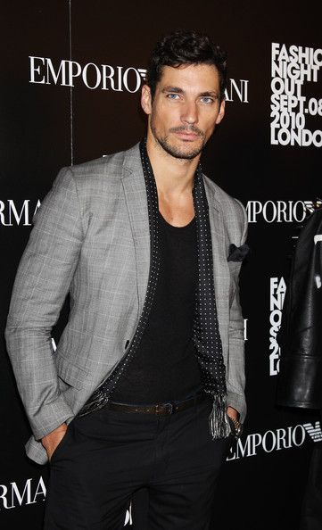 David Gandy attends Fashion's Night Out At Armani