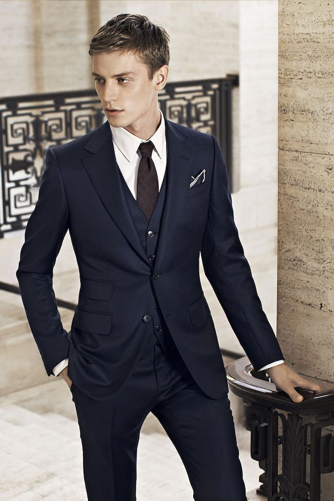 Navy Suit With White Shoes