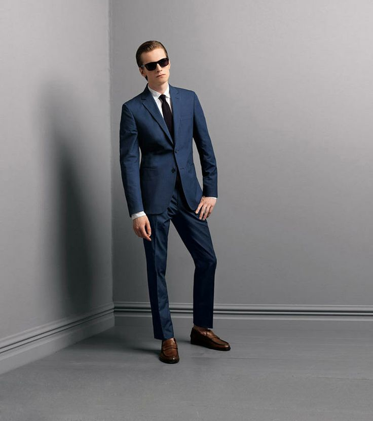 French style dark blue suit