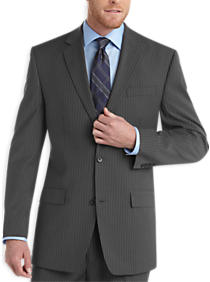 Gray Pinstripe Modern Fit Suit