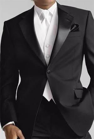 Groom in gorgeous black suit