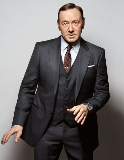 Kevin Spacey in a suit, Giorgio Armani