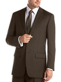 Olive Pİnstripe Modern Fit Suit