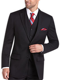 Platinium Suit Seperates Coat Black Pinstripe