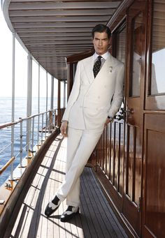 Ralph Lauren White Men Suits Spring 2012