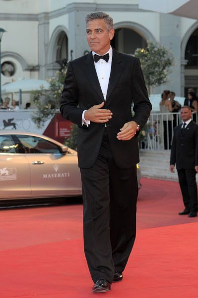 Suit by Giorgio Armani. Swagger by Clooney.