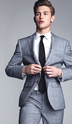 The well fitted suit with classic and modern fit