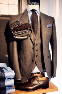Three piece mens suits