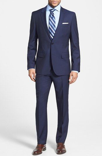 Trim Fit Wool Suit