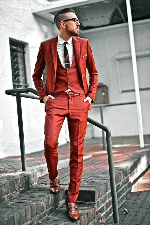 Colored men suits