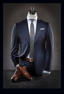 dark blue men suit combination