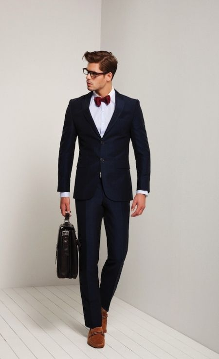 Dark Blue Mens Suits