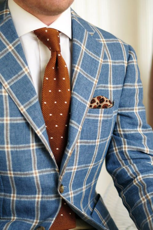plaid men's jacket