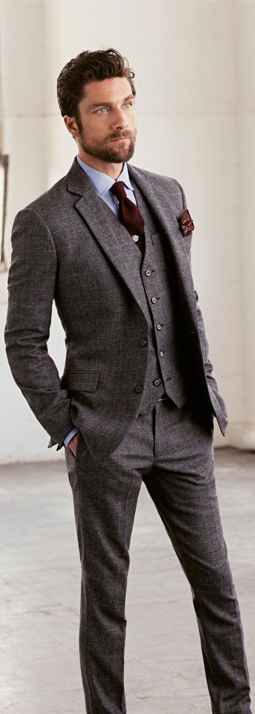 plaid men's suit