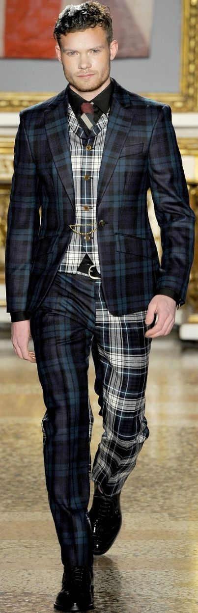 plaid men's suits