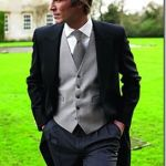 three piece wedding suit English style