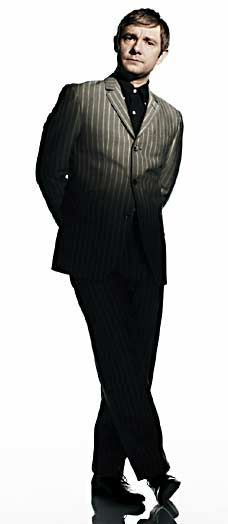 vertical striped men suit