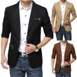 Blazer Jacket with Men Suit