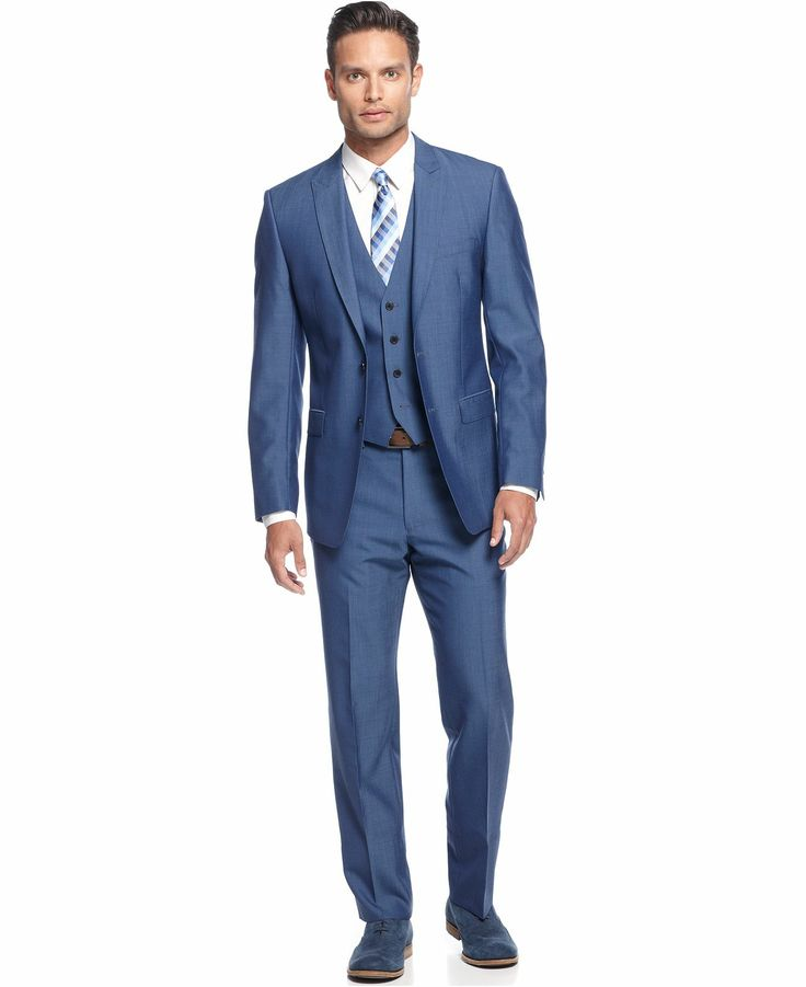 Mens Summer Suits. Stock up on men's summer suits to look cool when the weather gets hot. Beat the swelter of the sun without sacrificing a suave demeanor!