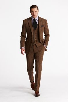 Brown Men Suits (26) | Mens Suits Tips