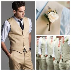 Fitting Tan Khaki Men Suits (21)