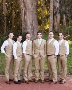 Tan Khaki Men Taupe Suits (11)