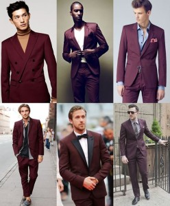 Burgundy Men Suits(15)