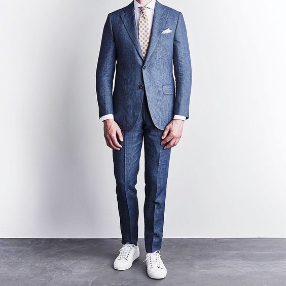 Men Suits with Sneakers (23)