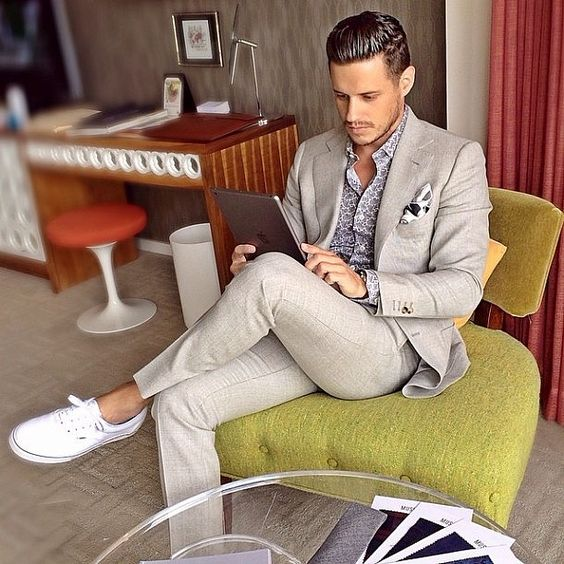 Men Suits with Sneakers (5)
