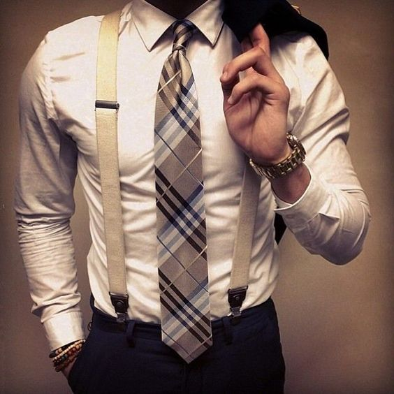 men suits with suspenders