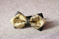 black_gold_floral_bow_tie_for_groom_suit