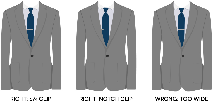 how to put on tie clip