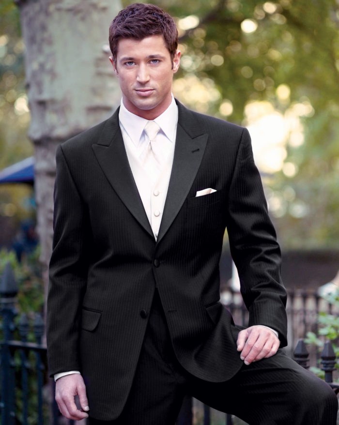 Black Wedding Suit And White Tie Mens Suits Tips
