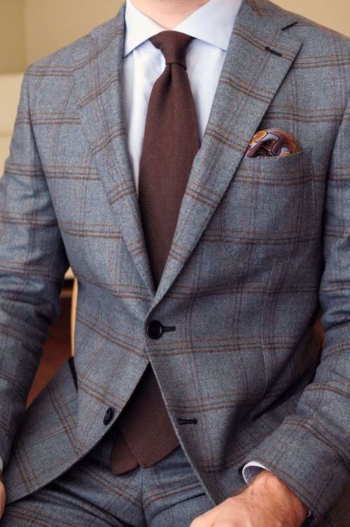 Patterned Suit And Blue Tie Mens Suits Tips
