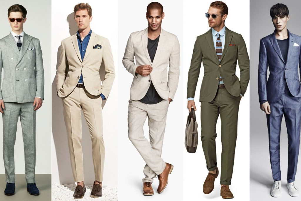 Linen Suit Styles Mens Suits Tips