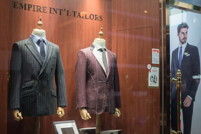 Custom tailored made men suits