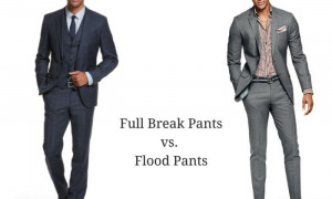 Men Suit Pant Breaks