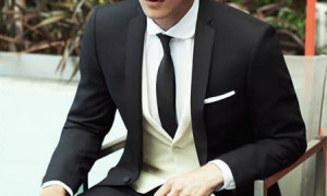 Skinny Tie with Men Suits